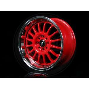 15x7.5 Konig wheels Retrack RED MACHINE LIP wheels rims Automotive