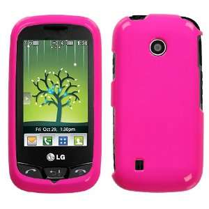 Neon Hot Pink Protector Case Cover for LG Cosmos Touch