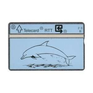 Collectible Phone Card 2u Drawing of Dolphin Leaping