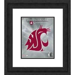 Framed School Logo Washington State Cougars Photograph