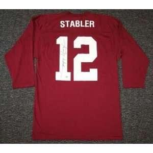 Ken Stabler Autographed Jersey   Alabama Crimson Tide