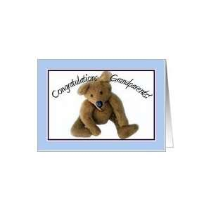 Teddy Bear, Congrats Grandparents Card Health & Personal