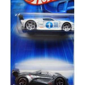 Hot Wheels Diecast Powder White Ford Gt Lm Pr5   Deep Silver Flake