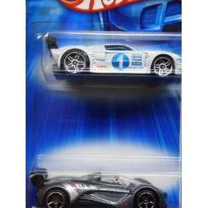 Hot Wheels Diecast Powder White Ford Gt Lm Pr5   Deep Silver Flake