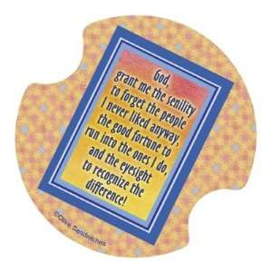 God, Grant me the Senility Coasters for your car