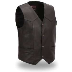 First Manufacturing Mens Premium Traditional Vest (Black