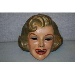 Hand Painted Marilyn Monroe Paper Machete Face