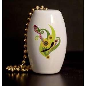 Groovy Birds Porcelain Fan / Light Pull Home Improvement