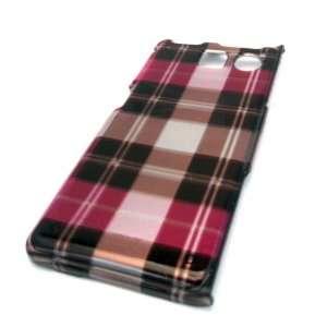 Sanyo Innuendo 6780 Pink Brown Plaid Design Hard Case