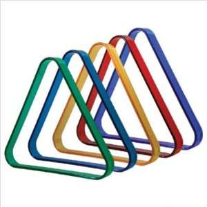 2.25 Colored Plastic Triangle Racks Color: Red: Sports