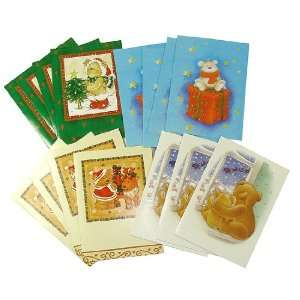 Club Pack of 768 Teddy Bear Christmas Holiday Cards 5.75