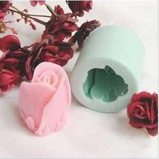 Silicone Mold Vivid Rose Handmade Soap Mould Cake Mold R0141