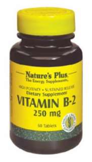 Natures Plus Vitamin B2 250mg Sustained Release Tablets  33% Off Your