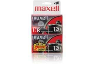 Maxell UR 120 Normal Bias Audio Cassette Tapes (2 Pack)  Cassette