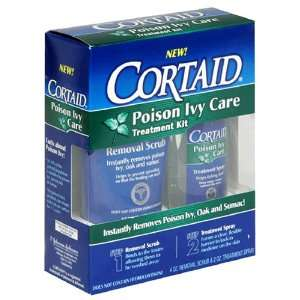 Cortaid Poison Ivy Care Treatment Kit, 4 Ounce Scrub and 2