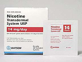 Picture NICOTINE 14MG/24H PATCH  Drug Information  Pharmacy