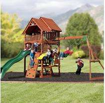 Highlander Cedar Swing Set   Sams Club