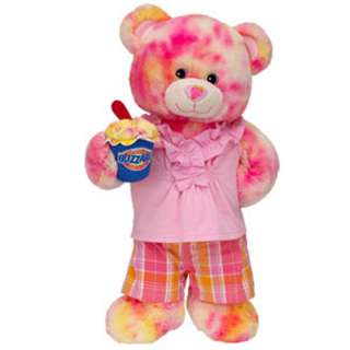 Pink Plaid Strawberry Cheesecake Blizzard Bear   Build A Bear Workshop