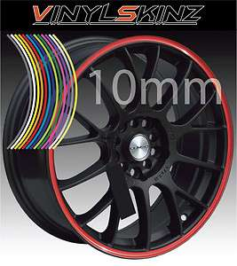 10mm Premium Alloy Mag Wheel Rim Tape Stripes Stickers Graphics Decals