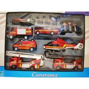 Cararama Emergency Fire Rescue Diecast Playset [Toy]