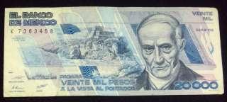 Mexico 1988 $ 20,000 Pesos Quintana Roo Mexican Note
