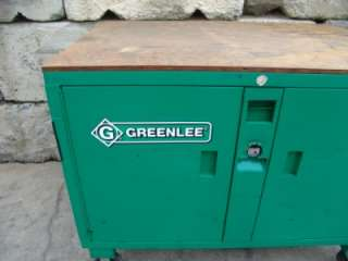 GREENLEE CABINET TOOL BOX CHEST WORK BENCH 3460/38721 GREAT SHAPE