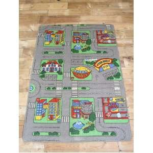 Childrens Car Play Mat   Road / City Rug   1m x 1.5m   NOT MANY LEFT