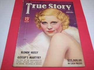 RK366 Vintage True Story Magazine Jan1938 Mary Carlisle