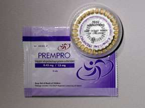 Picture PREMPRO 0.45MG/1.5MG TABS 28S  Drug Information  Pharmacy