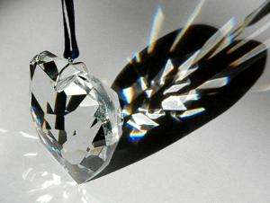 50mm Crystal Facet Heart Prism Valentines Day HOT gift