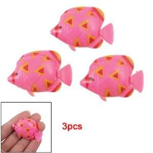 Pink Yellow Plastic Tropical Fish Aquarium Decoration