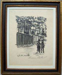 MAURICE UTRILLO Signed 1927 Original Vintage Lithograph