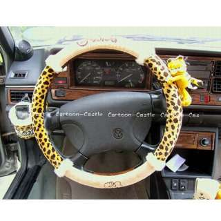 Garfield Auto Car Steering Wheel Cover Leopard