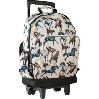 Wildkin Horse Dreams High Roller Rolling Backpack Bags