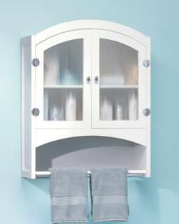 Bathroom Cabinet White Opaque Glass Doors