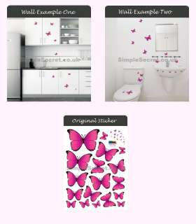 PS102 Pink Butterfly Wall Sticker Home Decor