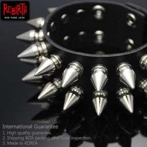 Gothic Punk Rock Emo Metal Spike Bracelet Wristband T