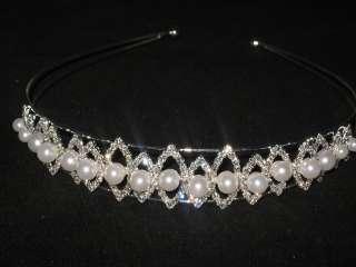 & Austrian Crystal BRIDAL Headband*Wedding Hair Accessory*NEW
