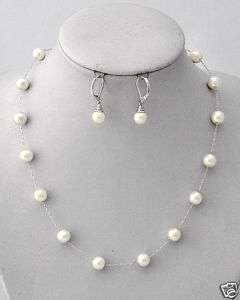 Faux Pearl Jewelry Set Wedding Bridal Bridesmaids Gifts