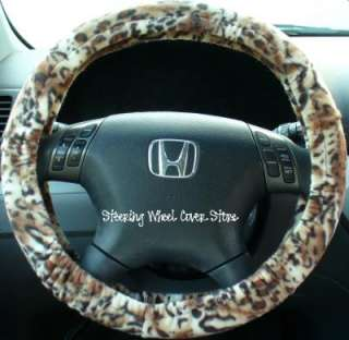 Car Steering Wheel Cover Soft Leopard Cheetah Print NEW