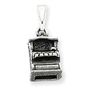 Silver Antiqued Cash Register Charm: West Coast Jewelry: Jewelry