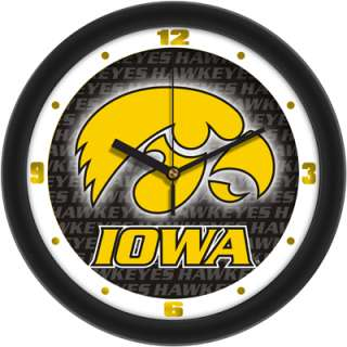 Iowa Hawkeyes Logo  Dimension Wall Clock