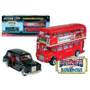 : Action City Routemaster London Bus and Black Taxi Set: Toys & Games
