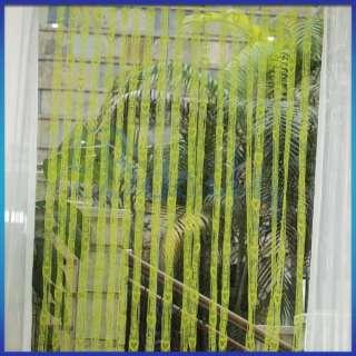Green Fringe Door Window Panel Room Divider String Curtain Hearts