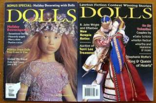 Lot Of 8 DOLLS Magazines 2002 Best Of Barbie, Princess Diana Dolls