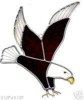 STAINED GLASS SUNCATCHER AMERICAN BALD EAGLE BIRD FOWL
