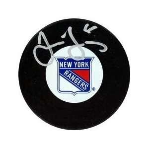 Jaromir Jagr New York Rangers Autograph Puck