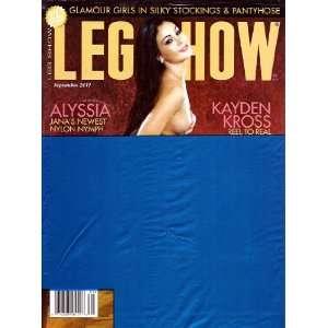 LEG SHOW SEPTEMBER 2011 KAYDEN KROSS: LEG SHOW MAGAZINE: Books