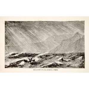 1884 Wood Engraving Lake Albert Nyanza Mobutu Sese Seko