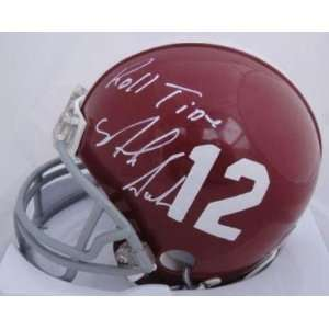 Nick Saban Signed Alabama Tide Mini Helmet PROOF COA
